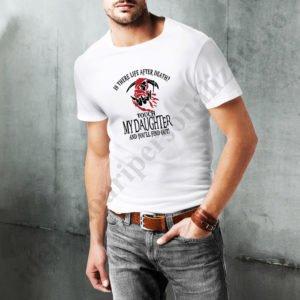 Tricou cu mesaj Touch my Daughter, tricouri cu mesaje pentru tati, idei cadouri personalizate
