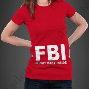 Tricou inscriptionat Funky Baby Inside, tricouri viitoare mamici, idei cadouri personalizate