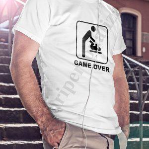 Tricou pentru tatici Game Over, tricouri pentru tatici, idei cadouri personalizate