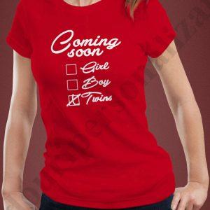 Tricou viitoare mamici de gemeni, tricouri pentru viitoare mamici, idei cadouri personalizate