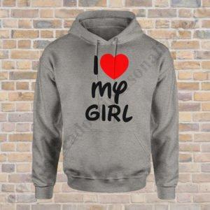 Hanorac barbati Love my Girl, Hanorac dama Love my Boy, hanorace pentru cupluri, idei cadouri personalizate