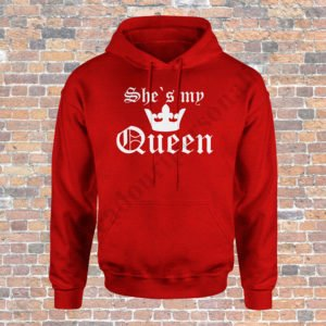 Hanorac barbati My Queen, Hanorac dama My King, Hanorace cupluri, hanorace barbati, hanorace dama, idei cadouri personalizate