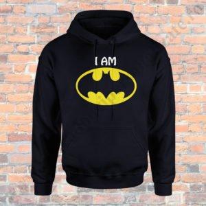 Hanorac barbati cu Batman, Hanorac dama cu Batman, Hanorace cupluri, hanorace barbati, hanorace dama, idei cadouri personalizate
