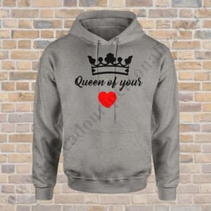 Hanorac barbati King of, Hanorac dama Queen of, Hanorace cupluri, hanorac barbati, hanorac dama, idei cadouri personalizate