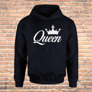 Hanorac barbati King, hanorac dama Queen, hanorace cupluri, idei cadouri personalizate