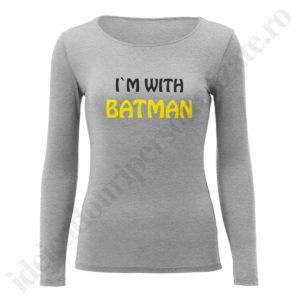 Bluza barbati Batman, Bluza dama With Batman, bluze, bluze cupluri, bluze barbati, bluze dama, idei cadouri personalizate