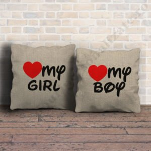 Perne canepa pentru el si ea, perne personalizate cupluri, idei cadouri personalizate