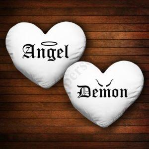 Perne inima Angel Demon, Perne personalizate cupluri, idei cadouri personalizate