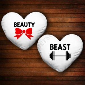 Perne inima Beast Beauty, Perne personalizate cupluri, idei cadouri personalizate