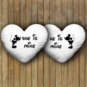 Perne inima Mickey Minnie, Perne personalizate cupluri, idei cadouri personalizate