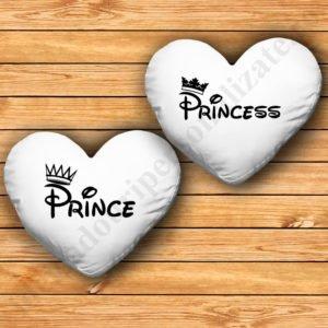 Perne inima Prince Princess, Perne personalizate cupluri, idei cadouri personalizate