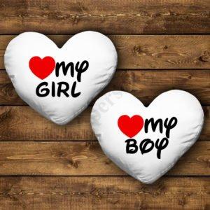 Perne inima pentru el si ea, perne personalizate pentru cupluri, idei cadouri personalizate