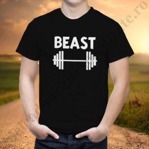 Tricou barbati Beast, tricouri cupluri, tricouri barbati, idei cadouri personalizate