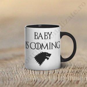Cana Baby is Coming, cani cupluri, cani personalizate pentru cupluri, idei cadouri personalizate