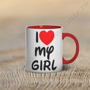 Cana Love my Girl, cani cupluri, cani personalizate pentru cupluri, idei cadouri personalizate