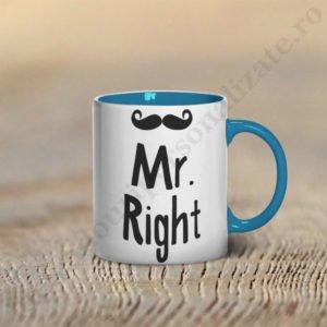Cana Mr Right, cani cupluri, cani personalizate pentru cupluri, idei cadouri personalizate