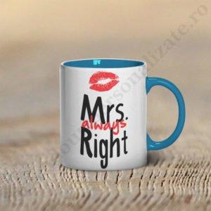 Cana Mrs Right, cani cupluri, cani personalizate pentru cupluri, idei cadouri personalizate