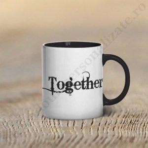 Cana cu Together, cani cupluri, cani personalizate pentru cupluri, idei cadouri personalizate