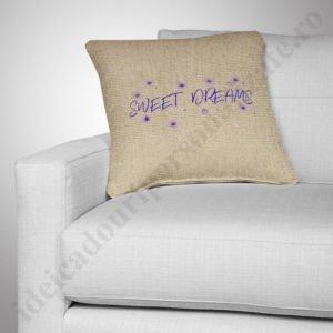 Perna canepa Sweet Dreams, Perne personalizate pentru copii, perne copii, idei cadouri personalizate
