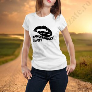 Tricou Dangerously Sweet, tricouri BFF, idei cadouri personalizate