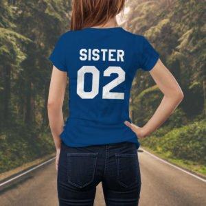 Tricou Sister Two, tricouri BFF, idei cadouri personalizate