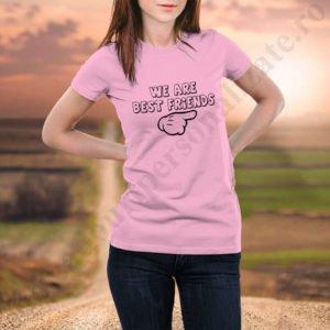 Tricou Best Friends One, tricouri BFF, idei cadouri personalizate