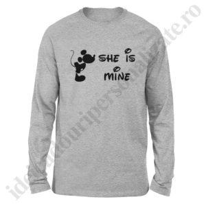 Bluza barbati Mickey, Bluza dama Minnie, bluze, bluze cupluri, bluze barbati, bluze dama, idei cadouri personalizate