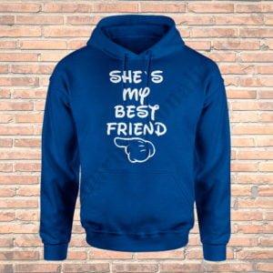 Hanorac My Best Friend, haorace BFF, idei cadouri personalizate