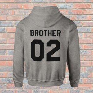 Hanorac Brother Two, haorace BFF, idei cadouri personalizate